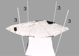 Montaje de las extensiones de las barras verticales